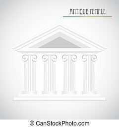 antiga, colunas, vetorial