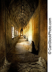 antiga, corredor