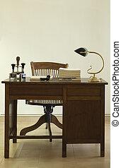 antiga, escrivaninha