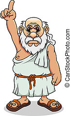 antiga, grego, homem