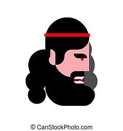 antiga, grego, perfil, rosto, isolated., vetorial, cabeça