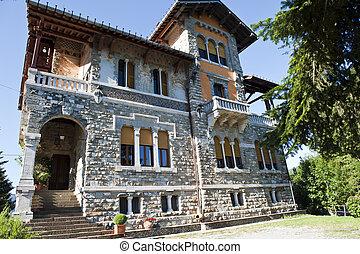 antiga, lar, residencial