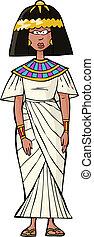 antiga, mulher, egípcio