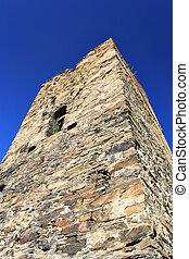 antiga, torre, ruínas