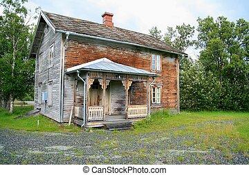 antigas, abandonado, casa