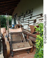 antigas, agrícola, ferramentas