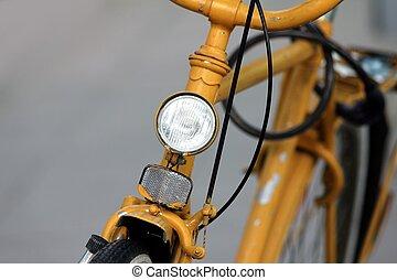 antigas, amarela, bicicleta