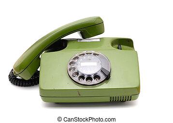antigas, análogo, disco, telefone