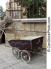 antigas, antigüidade, cadeira bebê