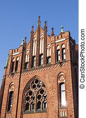 antigas, biblioteca, em, gdansk