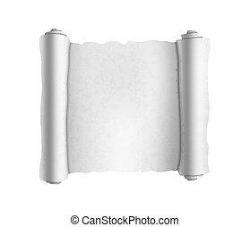 antigas, branca, textured, scroll, branco