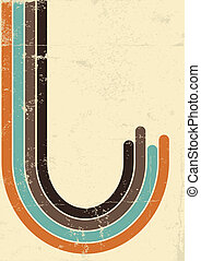antigas, cartaz, ilustração, textura, background.vector, retro
