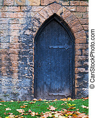 antigas, castelo, porta