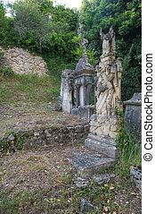 antigas, cemitério