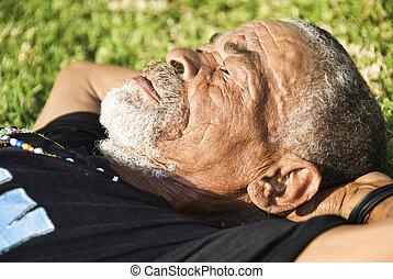 antigas, characterful, rosto, pretas, homem africano