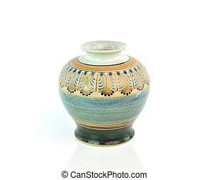 antigas, chinês, antigüidade, vaso, ligado, a, fundo branco