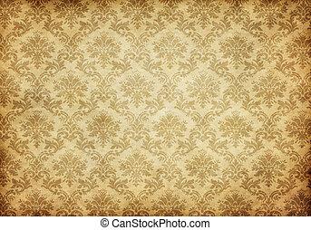 antigas, damasco, papel parede
