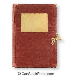 antigas, diário, marrom