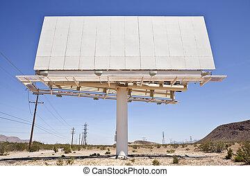 antigas, em branco, deserto, billboard