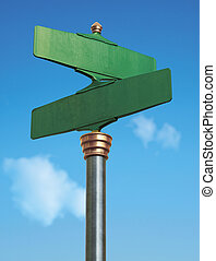 antigas, fashoned, sinal rua