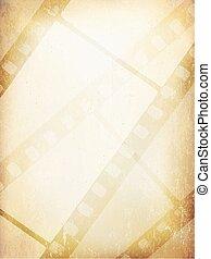 antigas, filmstrip, abstratos, experiência., vetorial, modelo