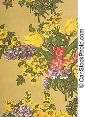 antigas, flor, tecido, textura