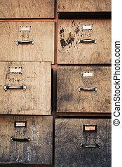 antigas, gabinete arquivando
