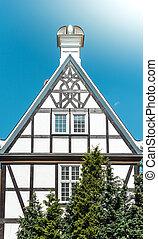 antigas, gdansk, casa, polônia, rua, europe.