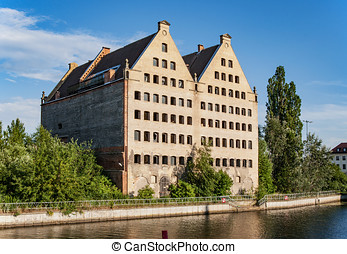 antigas, graneries, em, gdansk, polônia
