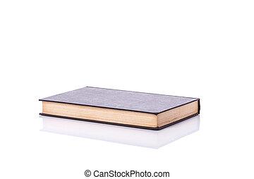 antigas, isolado, cover., estúdio, em branco, tiro, branca, livro, vazio