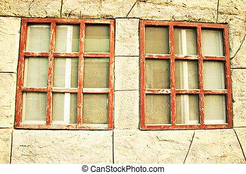 antigas, janelas