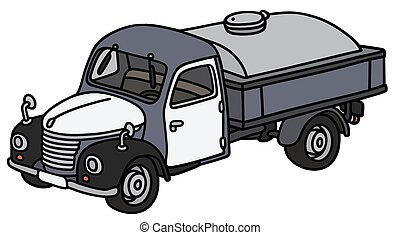 antigas, leiteria, caminhão, tanque