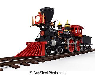 antigas, locomotiva, trem