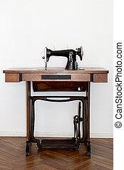 antigas, máquina de costura