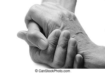 antigas, mãos