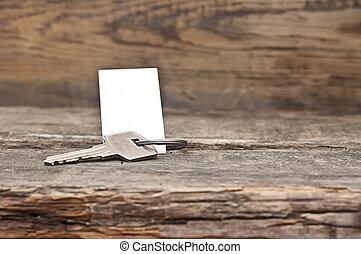 antigas, madeira, etiqueta, tecla, em branco, tabela