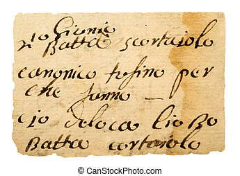 antigas, manuscrito