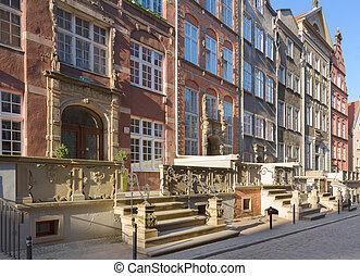antigas, mary, rua, gdansk, polônia