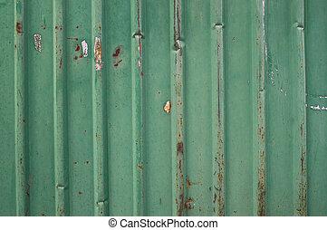 antigas, metal verde, cerca