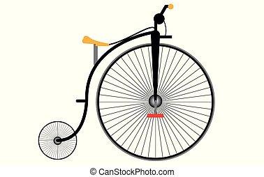antigas, modelo, bicicleta