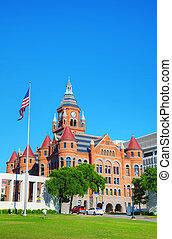antigas,  &, Museu,  Dallas, município, cultura, vermelho, história