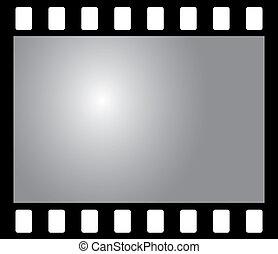 antigas, negativo, foto, película