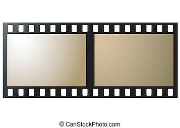 antigas, negativo, foto, película, quadro