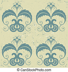 antigas, padrão, seamless, papel, background.vector, vindima