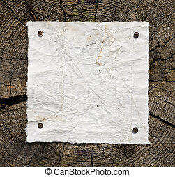 antigas, papel, ligado, madeira, fundo