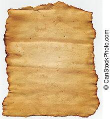 antigas, papel rasgado