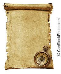antigas, papel, -scroll