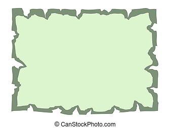 antigas, papel, verde, bandeira, pergaminho, vazio
