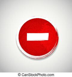 antigas, parada, ilustração, sinal, vetorial, estrada, vermelho