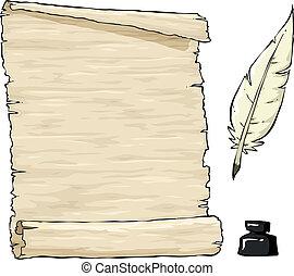 antigas, pergaminho